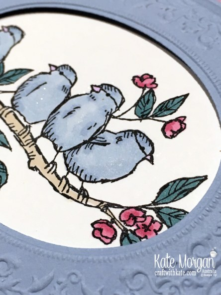 Bird Ballad meets Heirloom Woven Threads by Kate Morgan, Stampin Up Australia 2019 In Colour Blog Hop.