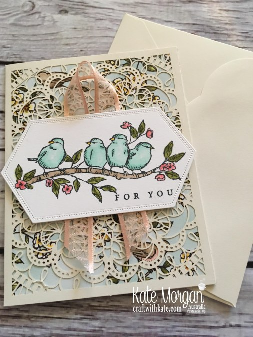 Bird Ballad Suite & Laser Cut Tin, Stampin Up Australia by Kate Morgan