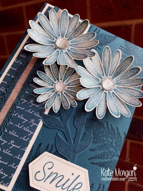 Daisy Lane in Pretty Peacock handmade card, Stampin Up Australia by Kate Morgan..