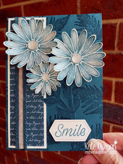 Daisy Lane in Pretty Peacock handmade card, Stampin Up Australia by Kate Morgan..JPG