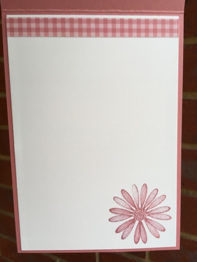 Daisy Lane in Rococo Rose Stampin Up Australia by Kate Morgan inside