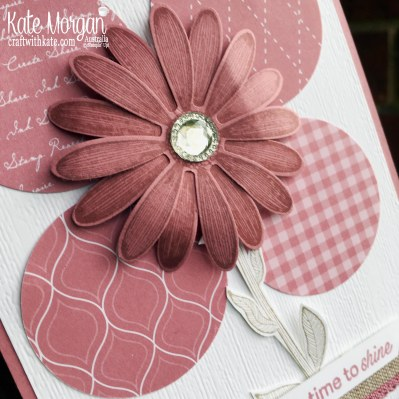 Daisy Lane in Rococo Rose Stampin Up Australia by Kate Morgan.