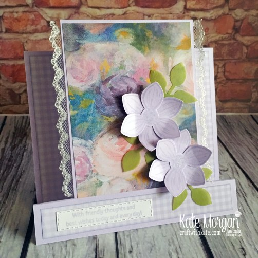 Floral Essence in Purple Posy handmade card, Stampin Up Australia by Kate Morgan..JPG