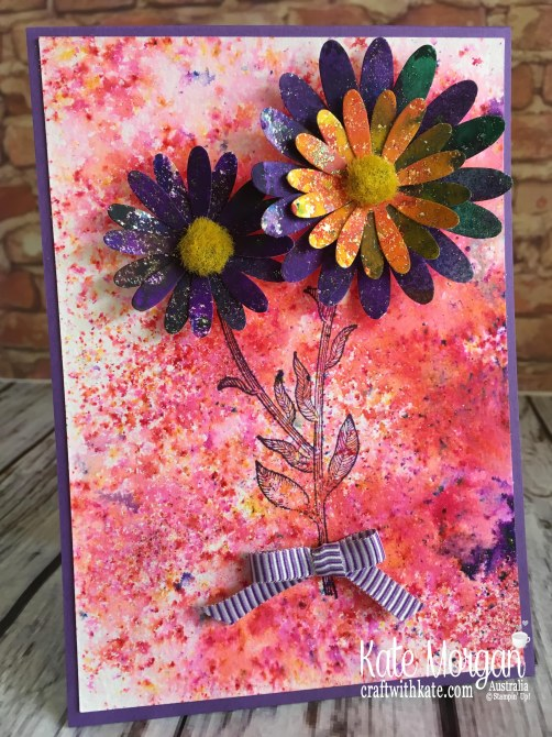 Daisy Lane stamp set & Pigment Sprinkles, Stampin Up Australia by Kate Morgan 2019
