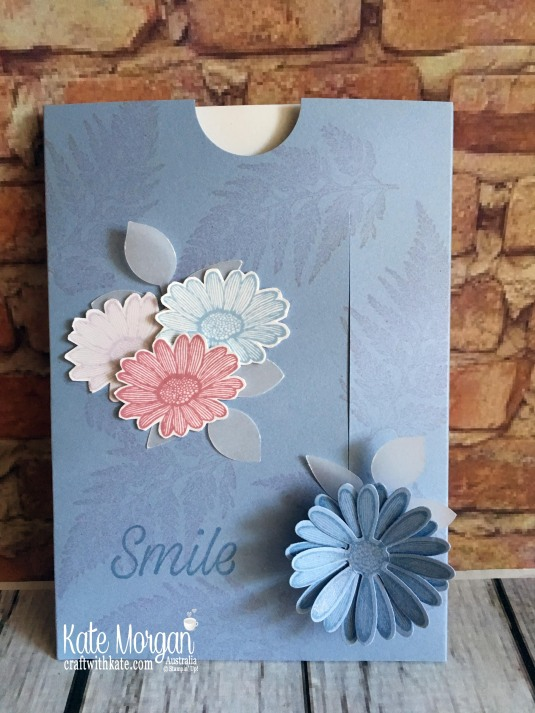 Easy Slider Card using Stampin Up Daisy Lane by Kate Morgan, Australia 2019.