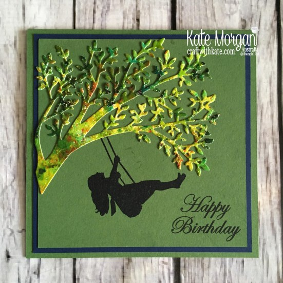 Silhouette Scenes Bundle using Stampin Up Pigment Sprinkles by Kate Morgan, Australia, 2019 Handmade Birthday Card.JPG