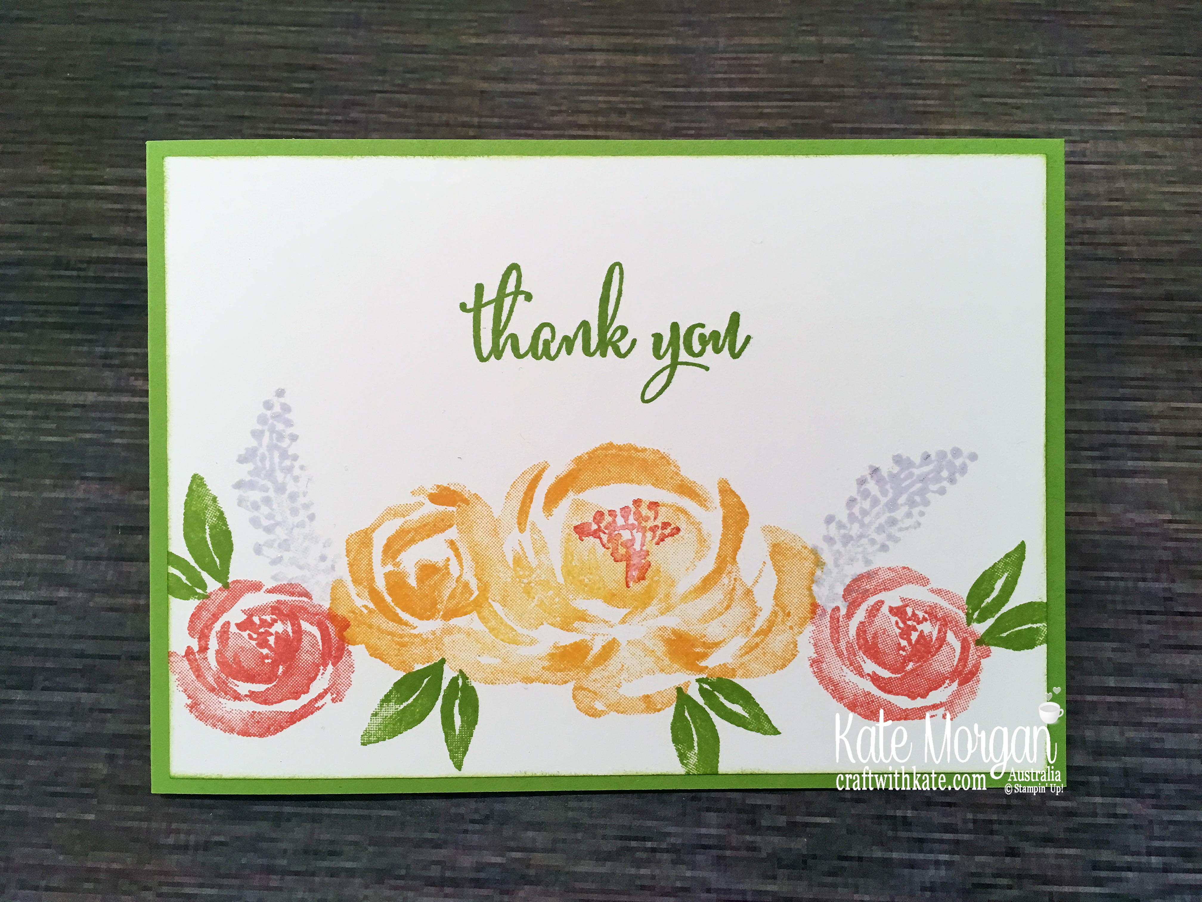 Simple Stamping using Stampin Up Beautiful Friendship & Love What You Do by Kate Morgan, Australia 2019..JPG