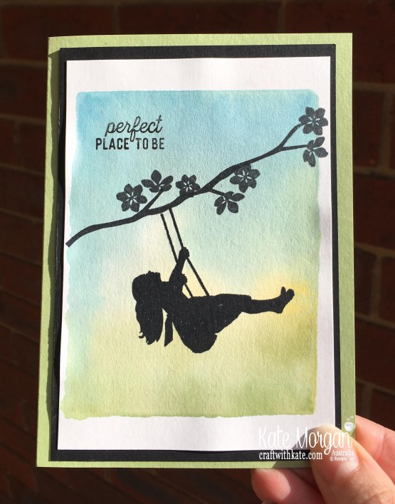 Simple Stamping using Stampin Up Silhouette Scenes & Colourful Seasons by Kate Morgan, Australia 2019