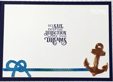 Slider card & Smooshing Technique using Stampin Up Sailing Home Bundle by Kate Morgan, Australia 2019