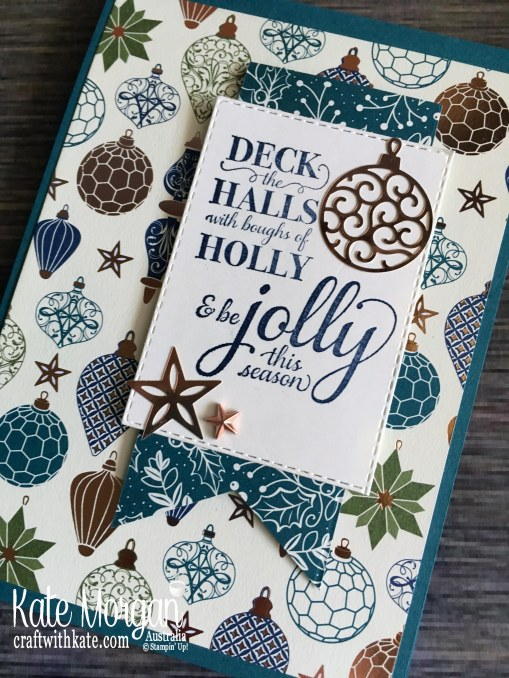 Christmas card 2019 using Stampin Up Brightly Gleaming Suite by Kate Morgan Australia...JPG