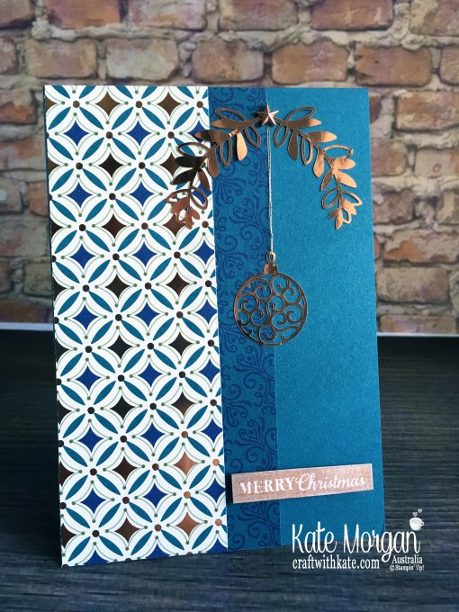 Christmas card 2019 using Stampin Up Brightly Gleaming Suite by Kate Morgan Australia..JPG