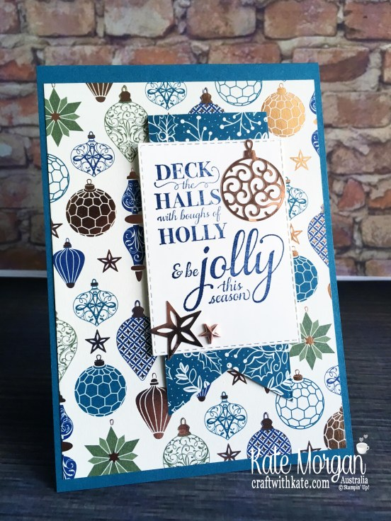 Christmas card 2019 using Stampin Up Brightly Gleaming Suite by Kate Morgan Australia.JPG