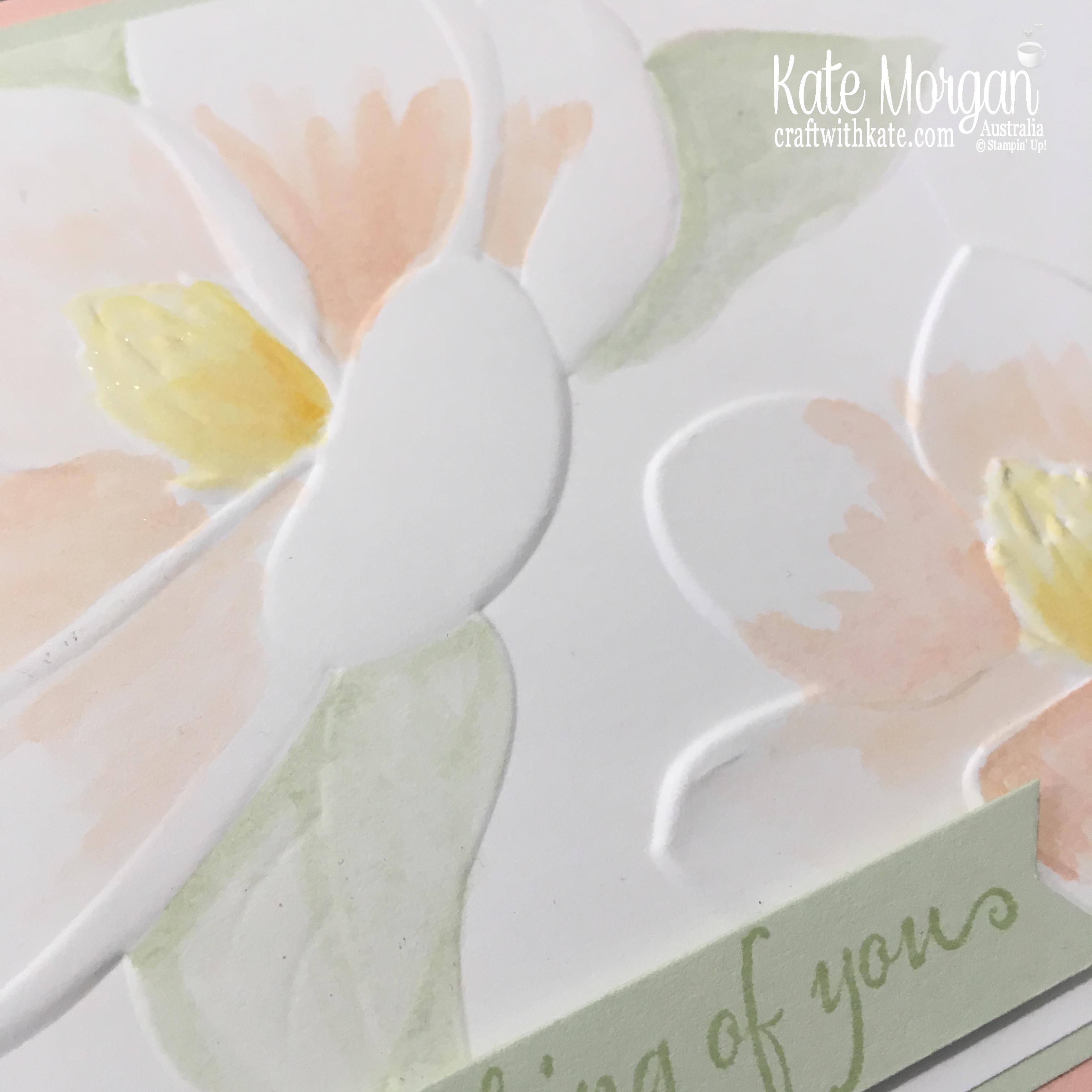 Magnolia Blooms watercolour, Stampin Up by Kate Morgan, Australia 2019.