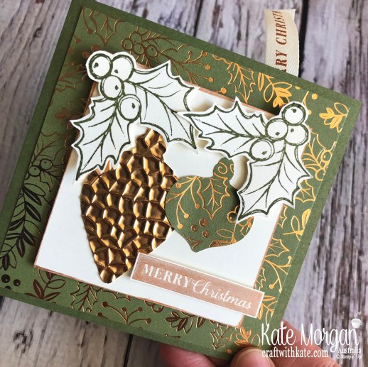 Bookmark card using Stampin Up Brightly Gleaming suite by Kate Morgan, Australia 2019 Holiday catalogue