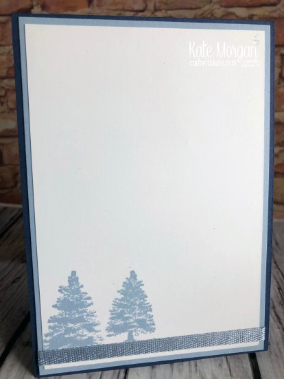 Christmas card using Stampin Up Rooted in Nature by Kate Morgan, Australia 2019 inside