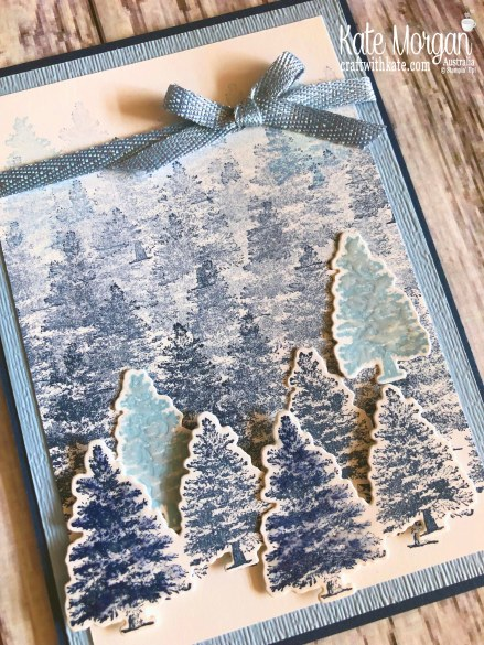 Christmas card using Stampin Up Rooted in Nature by Kate Morgan, Australia 2019.