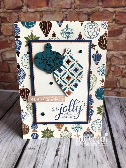 Handmade Christmas card using Stampin Up Brightly Gleaming by Kate Morgan Australia 2019 Holiday catalogue.