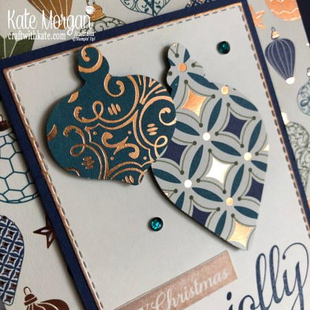 Handmade Christmas card using Stampin Up Brightly Gleaming by Kate Morgan Australia 2019 Holiday catalogue