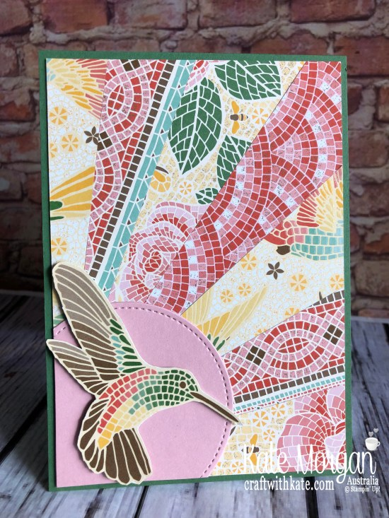 Sunburst Technique using Stampin Up Mosaic Mood DSP by Kate Morgan, Australia 2019.jpg