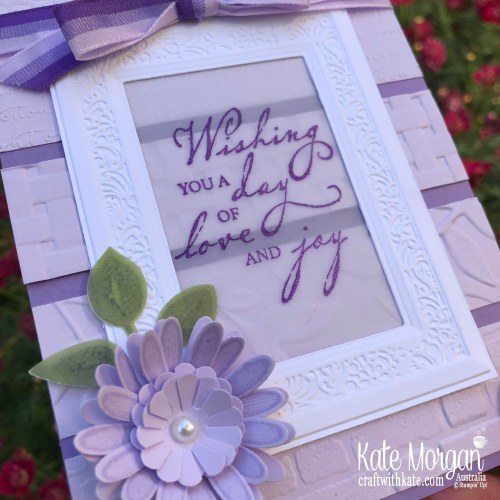 Blog Hop featuring Embossing folders using Stampin Up 2019 catalogue products by Kate Morgan Australia