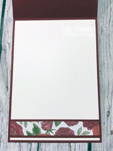 Birthday card using Christmastime is Here Suite, Stampin Up Holiday catalogue 2019 by Kate Morgan Australia inside