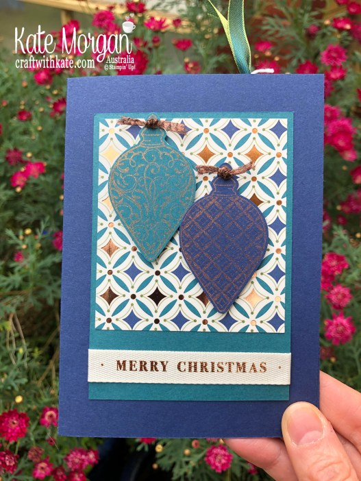 Bookmark Card using Stampin Up Brightly Gleaming Suite 2019 Holiday catalogue by Kate Morgan Australia..jpg