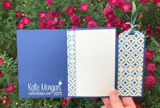 Bookmark Card using Stampin Up Brightly Gleaming Suite 2019 Holiday catalogue by Kate Morgan Australia