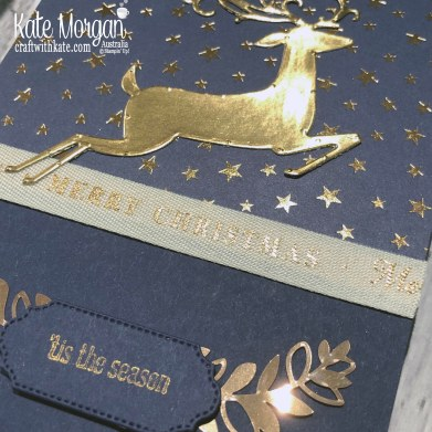 Brightly Gleaming with Dashing Deer, Stampin Up Holiday catalogue 2019 Art with Heart Christmas Blog Hop by Kate Morgan, Australia