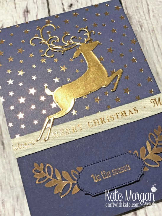 Brightly Gleaming with Dashing Deer, Stampin Up Holiday catalogue 2019 Art with Heart Christmas Blog Hop by Kate Morgan Australia