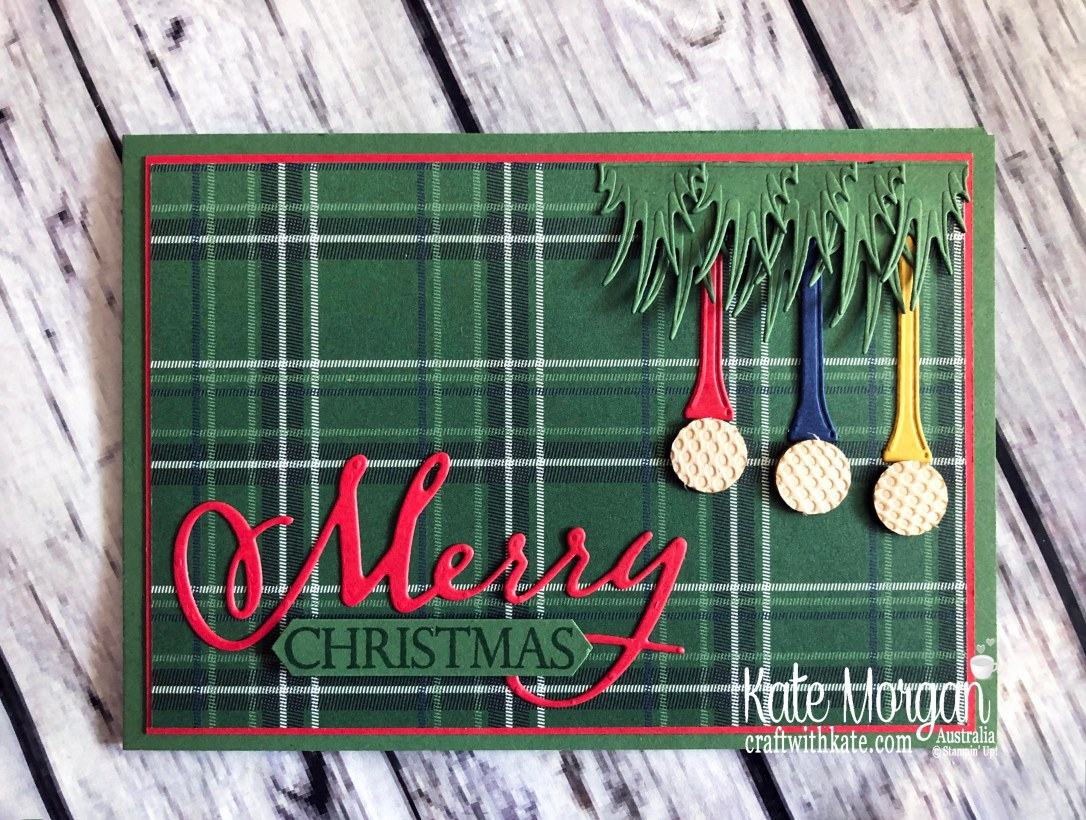Christmas card using Stampin Up Country Club Suite Clubhouse Mini 2020 by Kate Morgan, Australia front.jpg