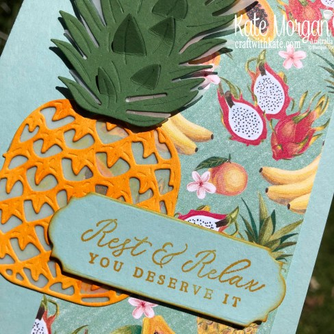 Tropical Oasis Suite by Kate Morgan, Stampin Up Australia, Mini catalogue 2020.