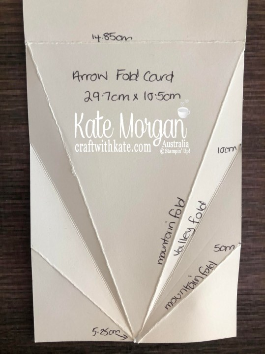 Arrow Fold Card Instructions by Kate Morgan, Stampin Up Australia 2020