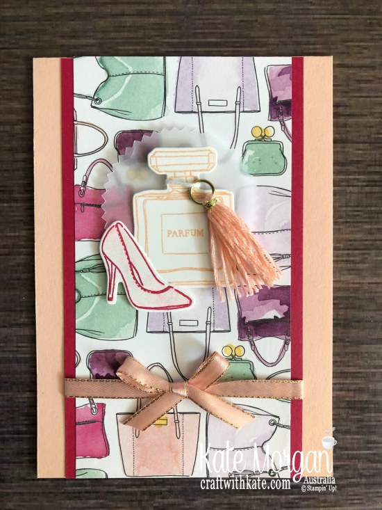 Feminine Best Dressed Stampin Up Mini 2020 by Kate Morgan, Australia