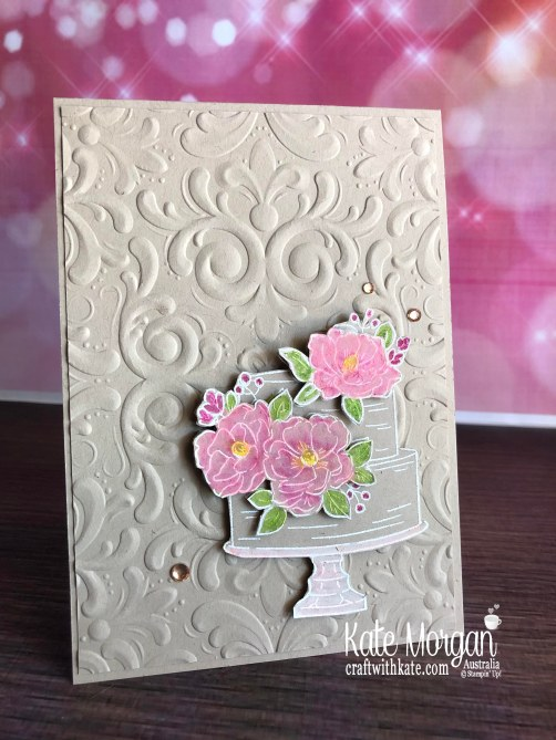 Happy Birthday to You Stampin Up Saleabration 2020 by Kate Morgan, Australia colour