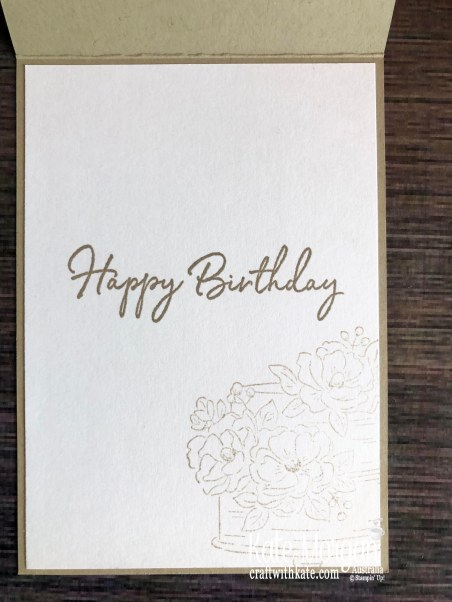 Happy Birthday to You Stampin Up Saleabration 2020 by Kate Morgan, Australia inside