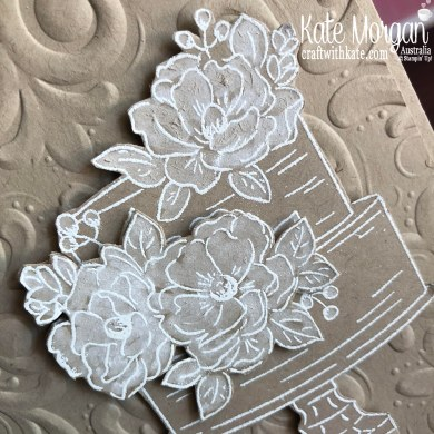 Happy Birthday to You Stampin Up Saleabration 2020 by Kate Morgan, Australia white flowers