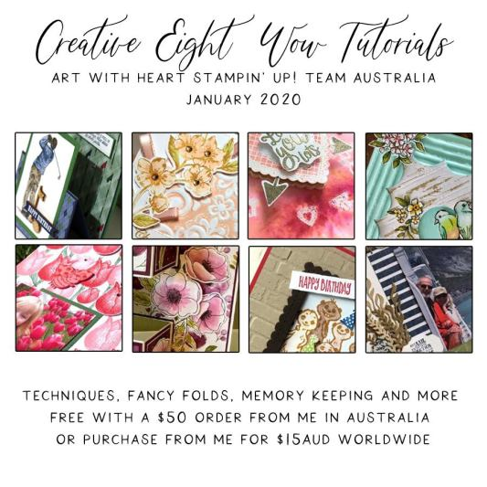 January 2020 Creative Eight Wow Tutorials by the AWHT