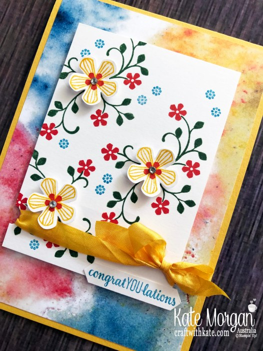 Thoughtful Blooms Stampin Up Saleabration 2020 by Kate Morgan, Australia.