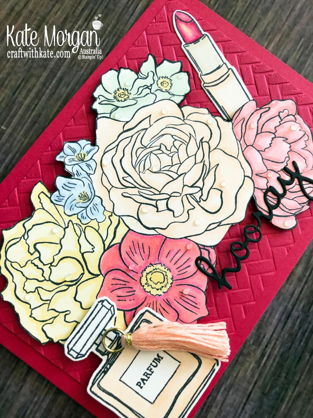 All Dressed Up & Breathtaking Bouquet stamps with Blends 2020 Mini by Kate Morgan, Australia.