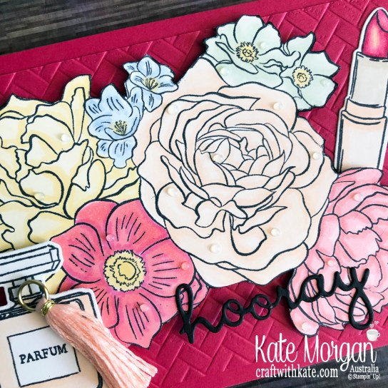 All Dressed Up & Breathtaking Bouquet stamps with Blends 2020 Mini by Kate Morgan, Australia