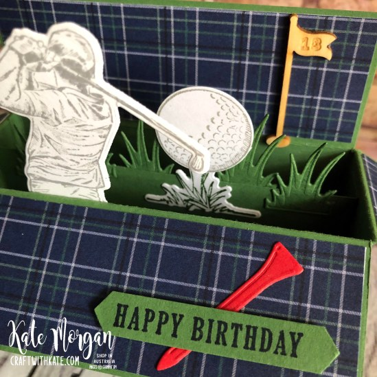 Masculine card using Stampin Up Clubhouse Golf by Kate Morgan Australia 2020 Mini