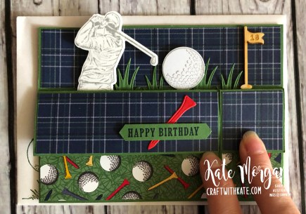 Masculine card using Stampin Up Clubhouse Golf by Kate Morgan Australia 2020