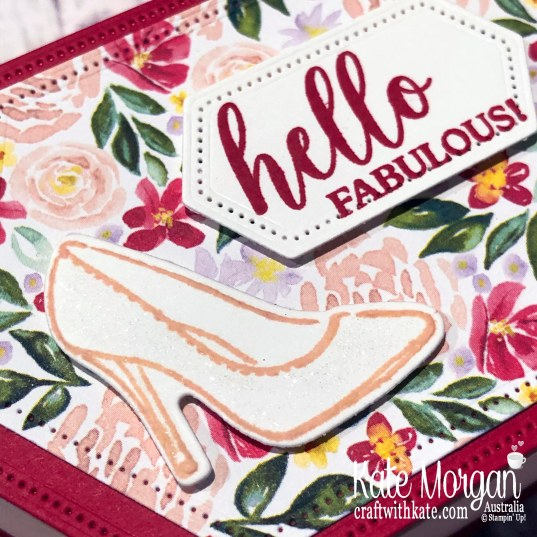 Post It Note holder with Stitched Nested Label dies using Stampin Up Best Dressed Suite 2020 Mini by Kate Morgan, Australia. s