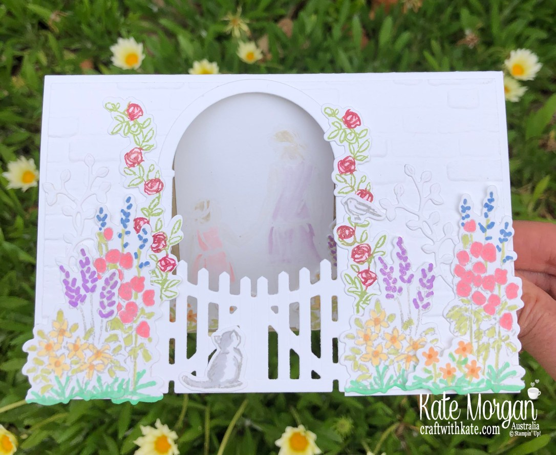 AWHT Tutorial using Stampin Up Grace's Garden & Beautiful Moments with Brick & Mortar 3D TIEF Mini 2020 by Kate Morgan, Australia