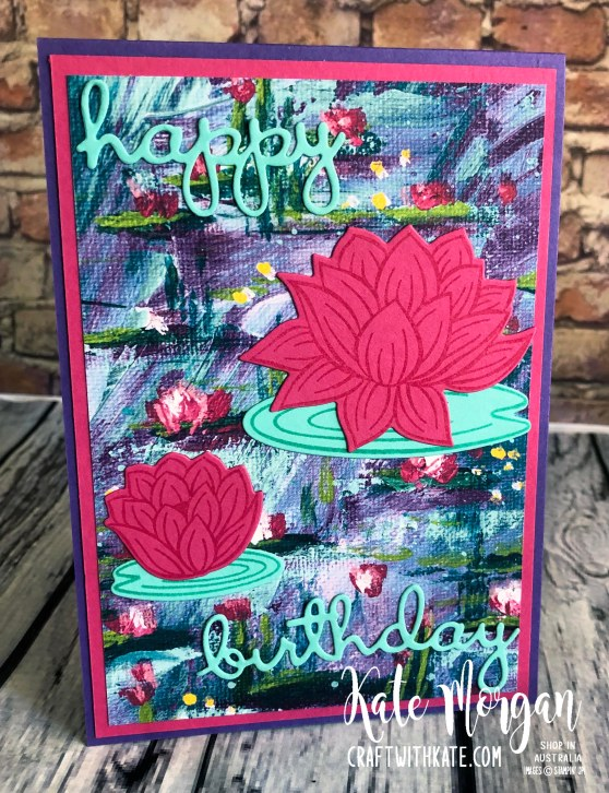 Lovely Lily Pad Stampin Up 2020 Saleabration by Kate Morgan, Australia 2