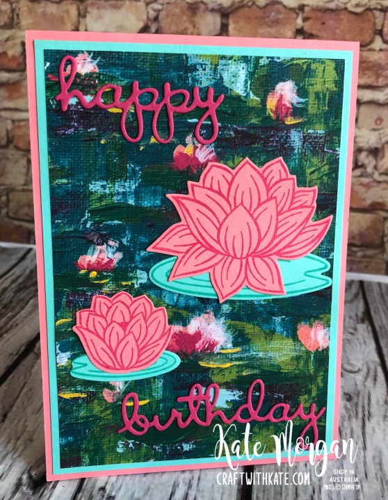 Lovely Lily Pad Stampin Up 2020 Saleabration by Kate Morgan, Australia 4