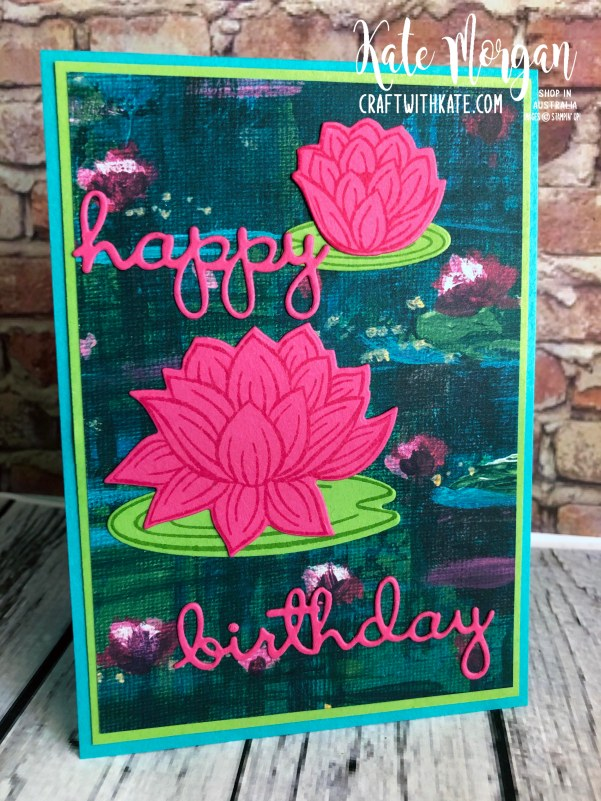 Lovely Lily Pad Stampin Up 2020 Saleabration by Kate Morgan, Australia