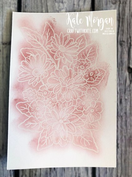 Monochrome Ornate Style Feminine card Stampin Up 2020 by Kate Morgan, Australia process