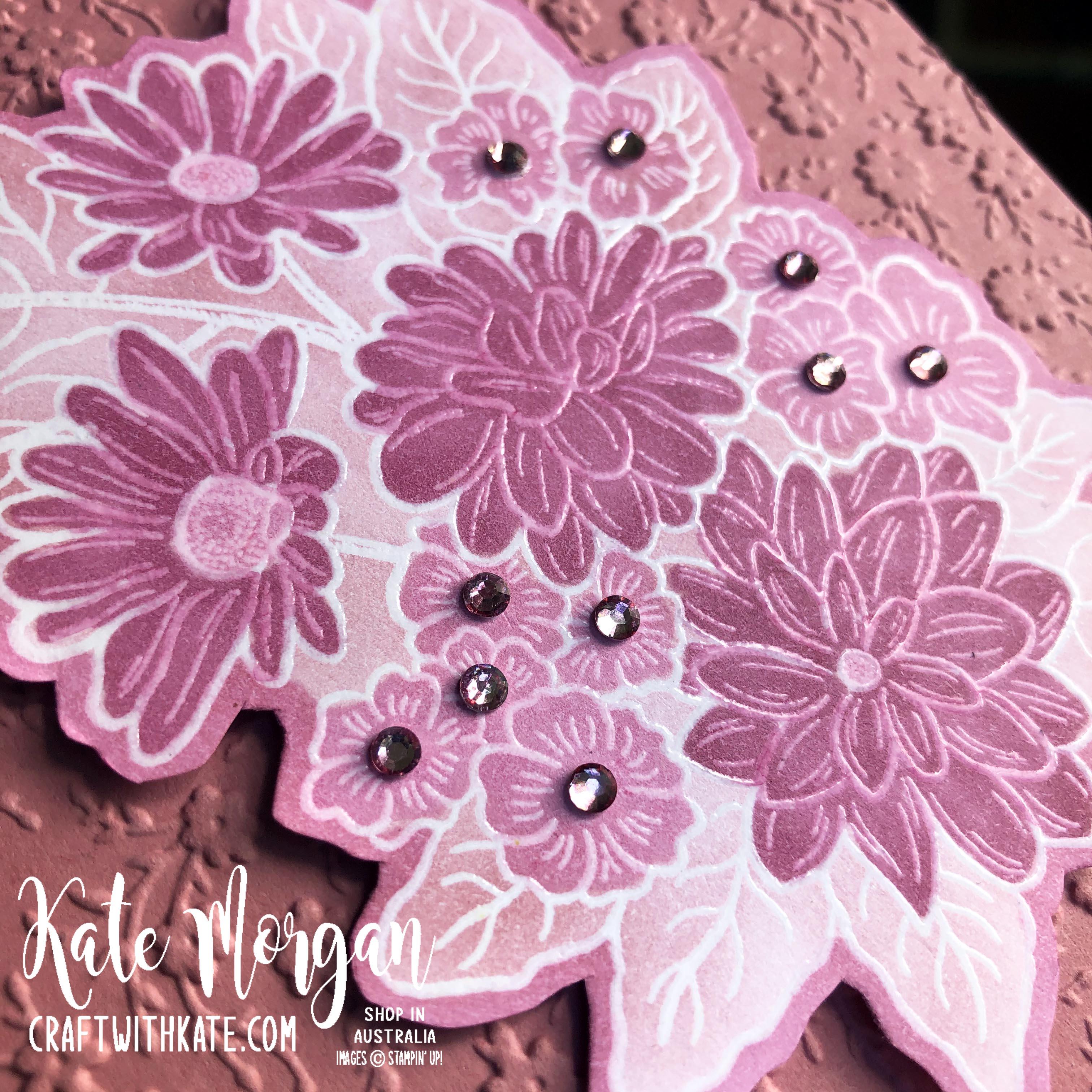 Monochrome Ornate Style Feminine card Stampin Up 2020 by Kate Morgan, Australia s