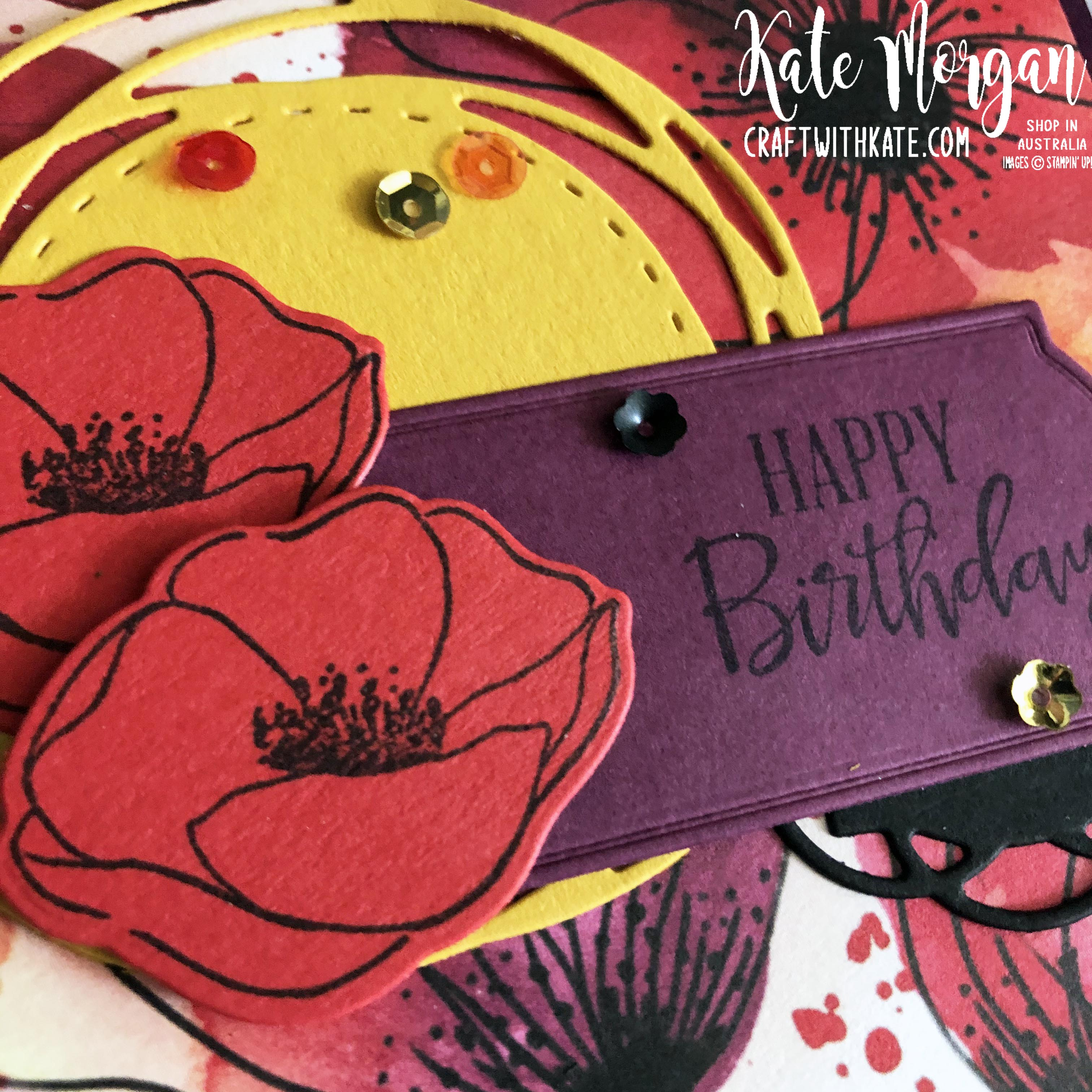 Peaceful Poppies Suite Stampin Up Mini 2020 by Kate Morgan Australia s